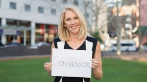 Journalist Tracey Spicer and her favourite position.