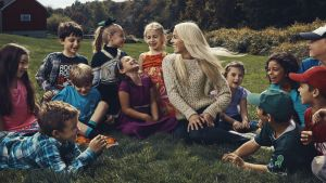Kaitlin Roig-DeBellis with some of the children she saved.