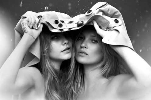 Kate Moss and Cara Delevingne were natural pics for Burberry's perfume campaign.